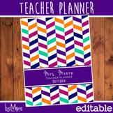 2018-2019 Editable Teacher Planner