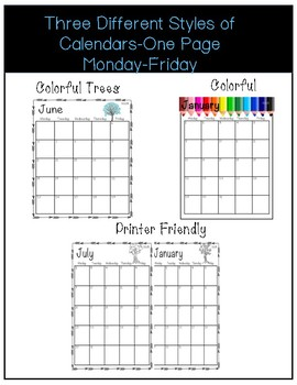 2018-2019 Editable **Teacher Planner**/Calendars
