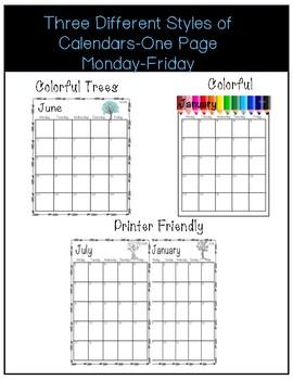 2018-2019 Editable **Teacher Planner**/Calendars
