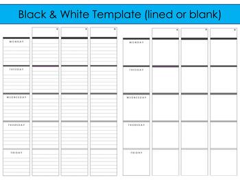 2018-2019 Editable Template to use with Erin Condren Teacher Planner