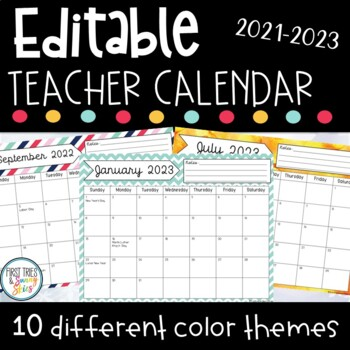2018 2019 editable printable calendar growing bundle