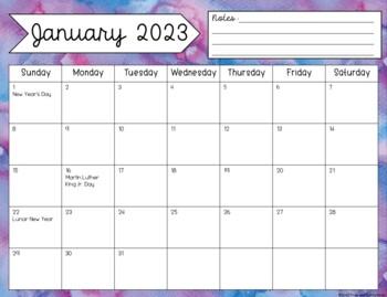2018-2019 Editable Printable Calendar {Growing Bundle}