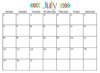 2018-2019 Full School Year Calendar