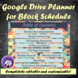 Teacher Planner 2018-2019 for Google Drive --  Geometric Pattern