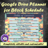 Teacher Planner 2018-2019 for Google Drive --  Geometric Pattern