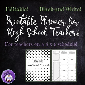 2018-2019 Printable Teacher Planner for High School (FREE UPDATES EACH YEAR)