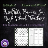 2018-2019 Printable Teacher Planner for High School (FREE