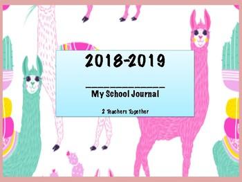 2018-2019 Journal - Llama themed