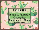 2018-2019 Journal Prompts - Cactus Themed