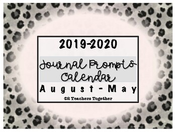 2018-2019 Journal Prompts - Floral Fence themed
