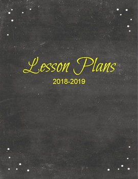 2018-2019 Lesson Planner