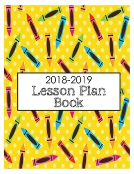 2018 2019 lesson planner printable lesson plan book monthly theme