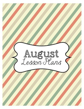 2018-2019 Lesson Planner - Printable Lesson Plan Book **RETRO COLOR THEME""