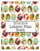 2018-2019 Lesson Planner - Printable Lesson Plan Book **WOODLAND THEME**