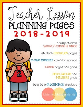 2018-2019 Lesson Planning Pages