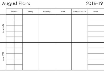 2018-2019 Long Range Plan