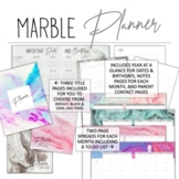 2018-2019 Marble Teacher Planner w/ Editable Lesson Plans