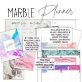 2019-2020 Marble Teacher Planner w/Editable Planning Pages