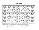 2018 - 2019 Mickey Mouse behavior chart calendar