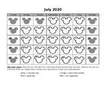 2018 - 2019 Mickey Mouse behavior chart calendar