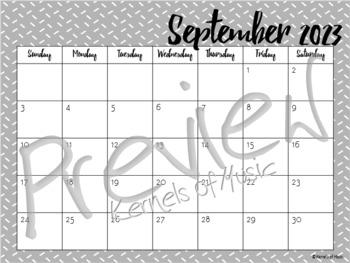 2018-2019 Monthly Calendar-Gray