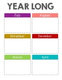 2018-2019 Monthly Planner w/out note lines