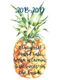 2018-2019 Pineapple Calendar