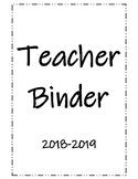 2018-2019 Planning Binder
