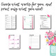 2018-2019 Printable Life Binder: Schedules, Budget, Goals, Lists & more! *floral