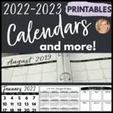 2019-2020 Calendar Printables & Teacher Planner Pages Happy Planner Friendly