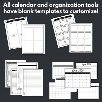 graphic regarding Happy Planner Printable Calendar Pages named 2019-2020 Calendar Printables Trainer Planner Webpages Satisfied Planner Pleasant