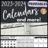 Monthly Calendar 2018-2019 & Teacher Organization Pages Te