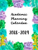 2018-2019 Printable US Calendars