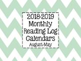 2018-2019 Reading Log Calendars