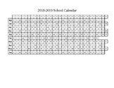 2018-2019 School Calendar Plain
