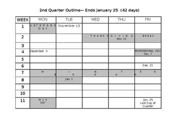 2018-2019 School Calendar -Quarter 1 &2 (MS WORD)