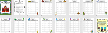 2018-2019 School Calendar and Monthly Reading Logs