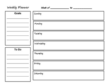 2018-2019 School Calendar and Weekly Planner