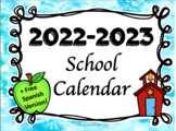 2018-2019 School Calendar with Spanish Version!