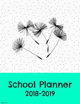 2018-2019 School Teacher Planner