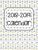 2018-2019 Printable School Year Calendar