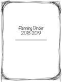 2018-2019 Simple Planning Binder