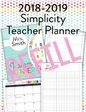 2018-2019 Simplicity Teacher Planner REFILL
