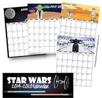 2018-2019 Star Wars Calendar