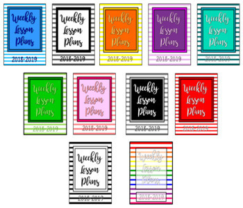 2018-2019 Striped Weekly Lesson Plans