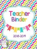 2018-2019 Teacher Binder (Color and B&W)