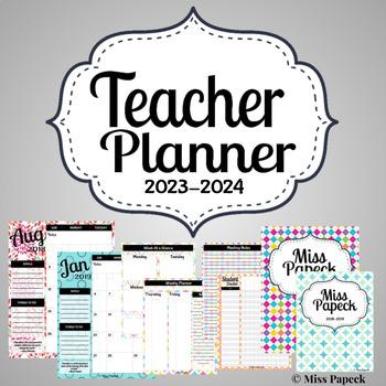 2018-2019 Teacher Binder/Planner w/ Editable Covers!