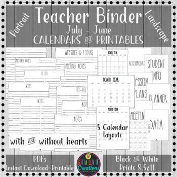 Teacher Binder 2018-2019 Teacher Binder Printables