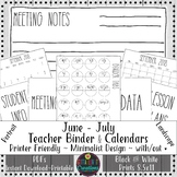 Teacher Binder 2018-2019 Teacher Binder Printables