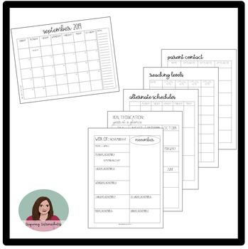 2018-2019 Teacher Binder / Teacher Planner - 100+ Pages! - Updates until 2020!